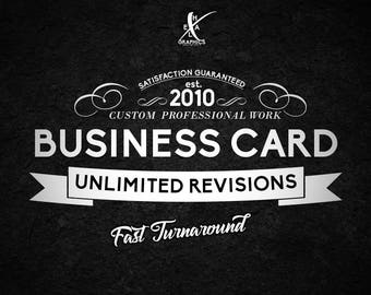 Custom Business Card Design Graphic Design / Calling Cards, Unique Business Cards / Photography Business Card / Small Business Branding