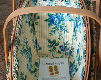 Longaberger Two Basket Set with Liner