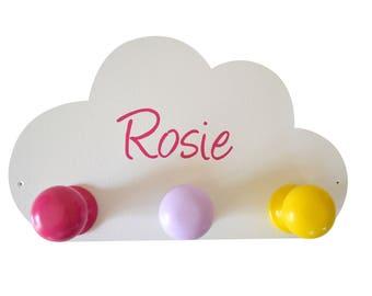 Coat small cloud drops roses custom
