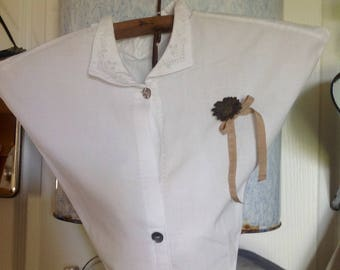 Vintage blouse restyled empty Pocket