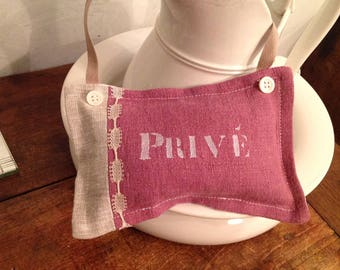 """Door cushion filled with lavender """"privė"""""""