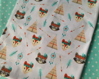 Promotion! Indian teepee printed fabric coupon