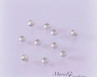 Beads 3 mm - stainless steel