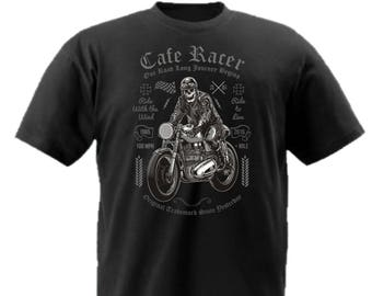Cafe racer skull t-shirt
