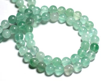 4pc - stone beads - green Fluorite balls 10mm - 8741140000698