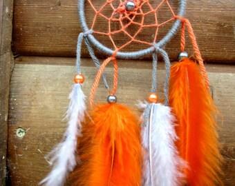 Catch dreams Orange and gray / Miniature / actual 20 cm