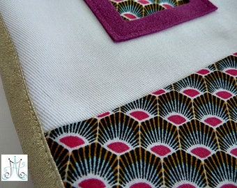 Health Book duo - inspired African pink, pink nubuck label holder and clasp