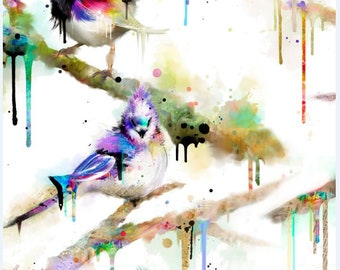 New Color Splash Birds scattered from 3Wishes