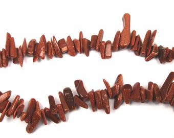 irregular beads GOLDSTONE 26 mm max 10 cm