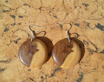 Earrings in acacia African boaca3