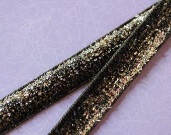 silver glitter velvet Ribbon