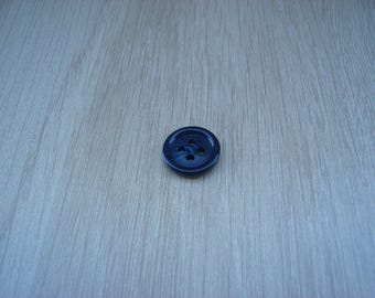 Blue marbled Navy Blue button with RIM