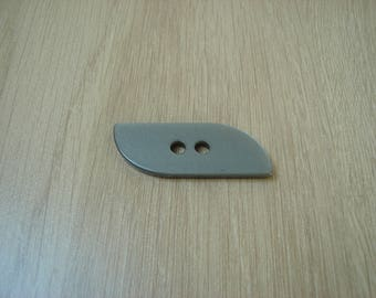 Pearly gray rounded rectangle shape button