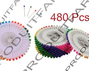 480 pins to head ball seam 38 mm 8 color Patchwork fabrics