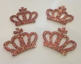 Lot 4 appliques 45mm red wreaths