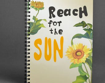 Sunflower Writing journal Notebook Gift Notebook Spiral Notebook Handmade Notebook A5 Notebook Sketchbook Floral Notebook A4 Notebook Diary