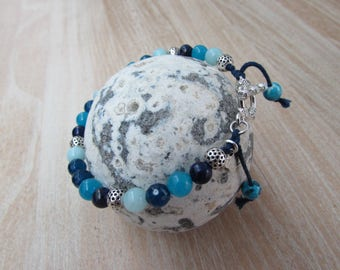 """Ultramarine"" blue natural stone bracelet"