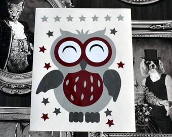 OWL decal: the little OWL decor kids vinyl sticker