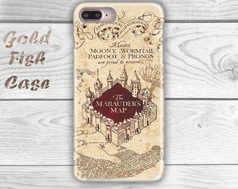 Harry Potter Phone Case iPhone 6S Case iPhone 5S Case iPhone 7 Case iPhone 6 Plus Marauder's Map iPhone 7 Case iPhone 7 Plus Phone Case s046