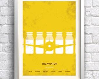 The Aviator - alternative, minimalist movie poster, Scorsese, art print, home decor