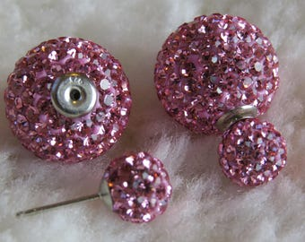 Double Sided  earring Swarovski Crystals