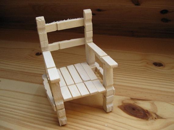 chaise en bois en  u00e9pingles a linge