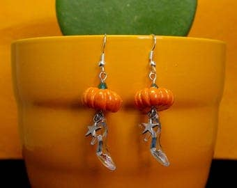 """Earring """"It's midnight!"""" polymer clay"""