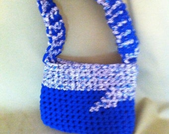 blue cotton hoooked bag