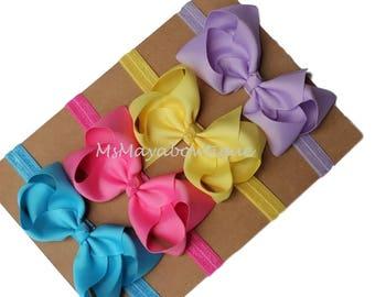 4 inch bow headband, PICK 4, baby girl bow headband, toddler headband, headdbands for babies, hair bow headbands, girl hairbands, baby girl