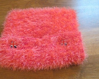 Hairy wool knitted Tablet cover.