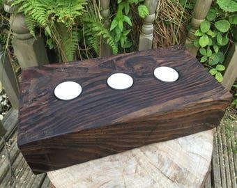 Chunky Wood Tealight Holder