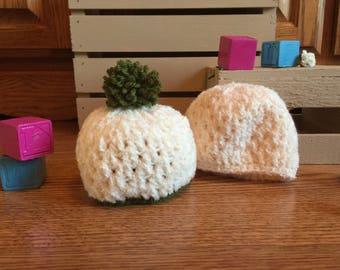 Crocheted Newborn Vanilla Hat