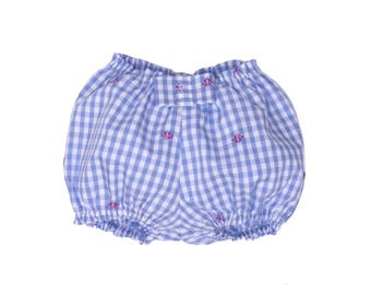 Baby girl Bloomer cotton Plaid