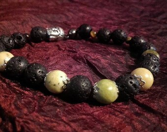 Lava & African Turquoise Bracelet