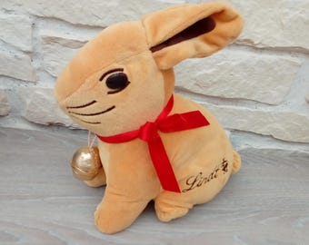 Lindt plush rabbit toy advertising