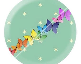 resin cabochon is 25 mm Butterfly e9 stick