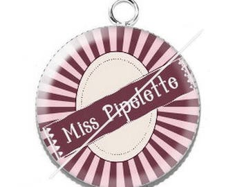 Miss Chatterbox 16 resin cabochon pendant