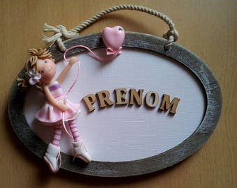 Frame for child room with character of cold porcelain