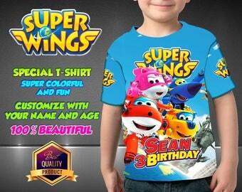 Super Wings Birthday Shirt, Custom Shirt, Super Wings Personalized Shirt, family shirts, Super Wings Birthday t-shirts  Disney Super Wings