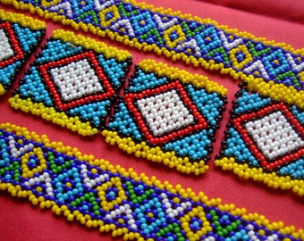 7 geometric beaded ethnic - India 1992-