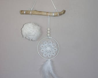 dreamcatcher dream catcher hanging wood floating feather tassel