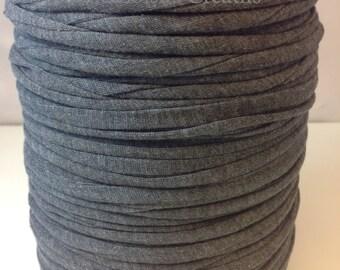 Grosse bobine de Trapilho lycra jersey gris souris