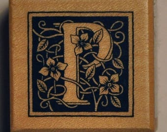 Wood stamp - letter P