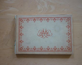 Alphabet de la Brodeuse; French embroidery bible with instructions for letters, monograms etc
