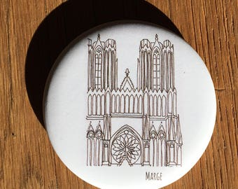 """Magnet bottle opener """"Cathedral of Reims"""""""