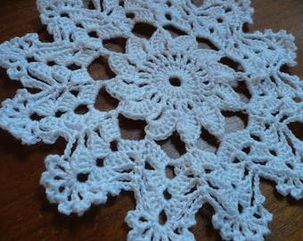 small doily, coaster, coaster, crochet