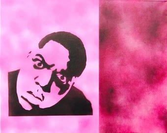 Notorious BIG - Biggie Smalls Original Spray Art on Canvas
