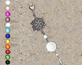 Support cabochon 20 mm for bag charm or door key, filigree