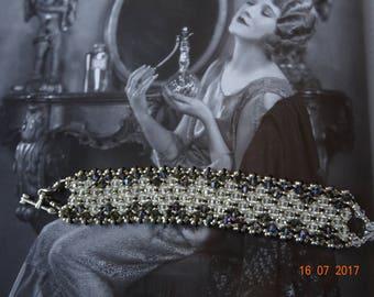Refined and elegant Swarovski heliotrope Crystal and Crystal bracelet