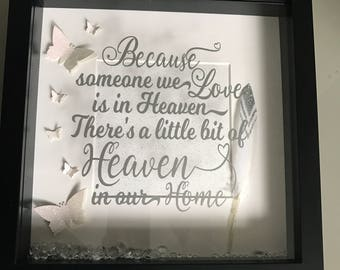 Because someone we love is in heaven memory frame